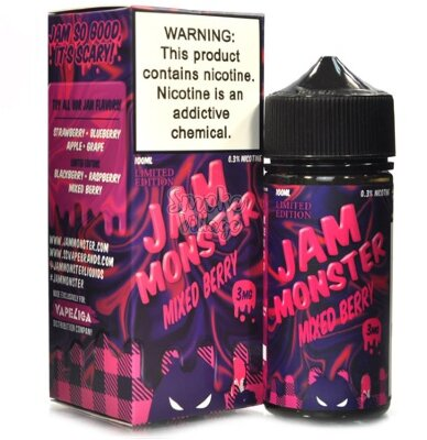 Jam Monster Mixed Berry salt 30 мл (48мг)