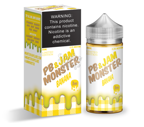 PB & Jam Monster Banana 100 мл (3 мг)