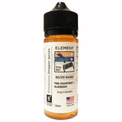 Element: Pink Grapefruit + Blueberry 120ml (3mg)