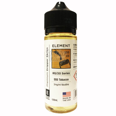 Element: 555 Tobacco 120ml (3mg)