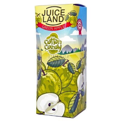 Cotton Candy Juiceland - Green Apple 100ml (0mg+3mg никобустер)