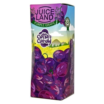 Cotton Candy Juiceland - Purple Grape 100ml (0mg+3mg никобустер)