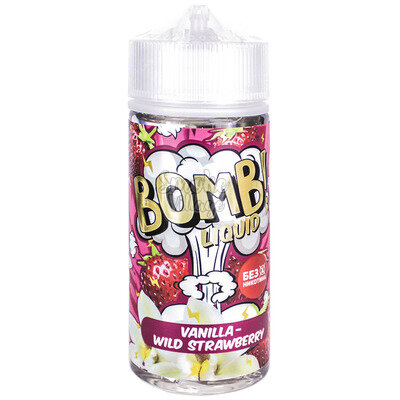 Cotton Candy Bomb! Vanilla - Wild Strawberry 120мл (3мг)