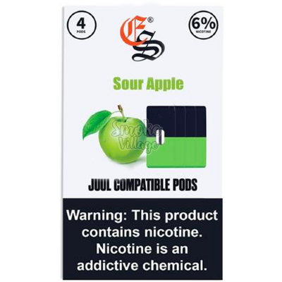 Картриджи Eonsmoke (для JUUL) Sour Apple (60мг)